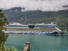 AIDAbella Geiranger 19.08.07 - Fjorde Berge Wasserfälle - Fantastische Natur in Norwegen AIDAbella