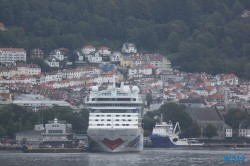 AIDAdiva Bergen 19.08.08 - Fjorde Berge Wasserfälle - Fantastische Natur in Norwegen AIDAbella
