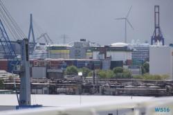 AIDAprima Hamburg 16.05.14 - Kurztour mit strahlender Sonne ohne das Schiff zu verlassen