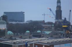 St. Pauli Landungsbrücken Hamburg 16.03.19 - Eine Runde England Frankreich Holland AIDAmar Metropolen