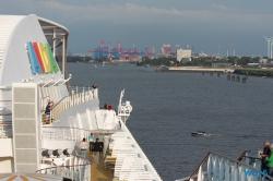 Von der Hafencity die Elbe hinunter Hamburg 15.08.08 - Norwegen Fjorde England Frankreich Spanien Portugal Marokko Kanaren AIDAsol Nordeuropa Westeuropa