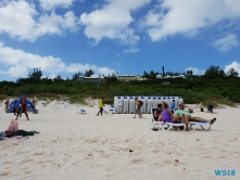 Horseshoe Bay Hamilton 18.10.03 - Big Apple, weißer Strand am türkisen Meer, riesiger Sumpf AIDAluna - Foto Hannah