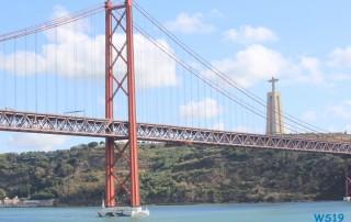 Ponte 25 de Abril Lissabon 19.10.13 - Von Kiel um Westeuropa nach Malle AIDAbella
