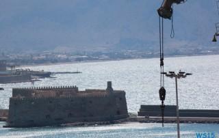 Heraklion 13.07.24 - Türkei Griechenland Rhodos Kreta Zypern Israel AIDAdiva Mittelmeer