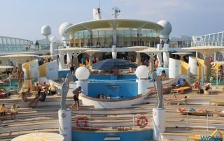 Pooldeck Mittelmeer 13.07.23 - Türkei Griechenland Rhodos Kreta Zypern Israel AIDAdiva Mittelmeer