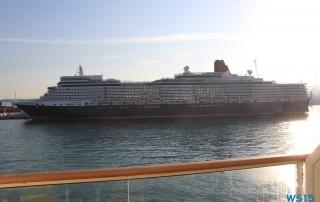 Queen Elizabeth Rom 14.08.22 - Tunesien Italien Korsika Spanien AIDAblu Mittelmeer