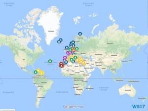 Schulz auf Kreuzfahrt - Karte aller unserer Häfen